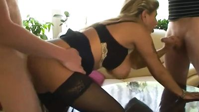 STEP SON AND FRIEND SEDUCE MOM TO GET FIRST FUCK