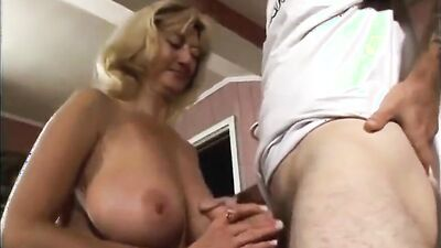 Big-breasted blonde Rheina Shine is dicked down by her stepson