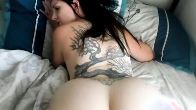 Busty MILF is giving jerk off instructions while squeezing her amazing tits