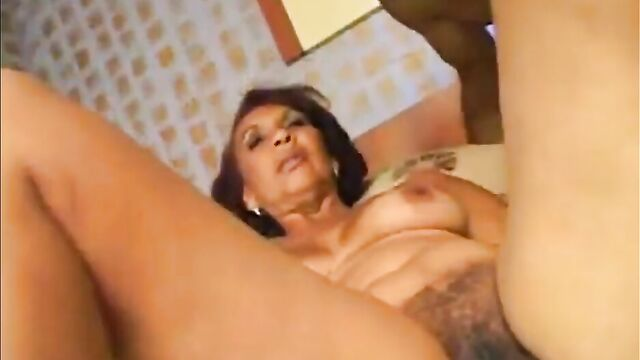 Mature Latina is fucked in cunt and face by a hung man