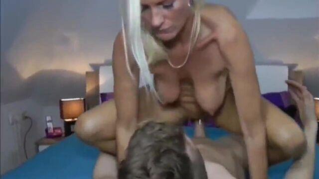 Slutty mature woman Dirty Tina rides that hard cock wildly